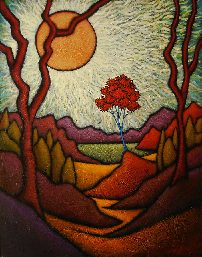 "GC Myers ""Nearing Journey's End"" 28x22 acrylic/canvas SOLD"