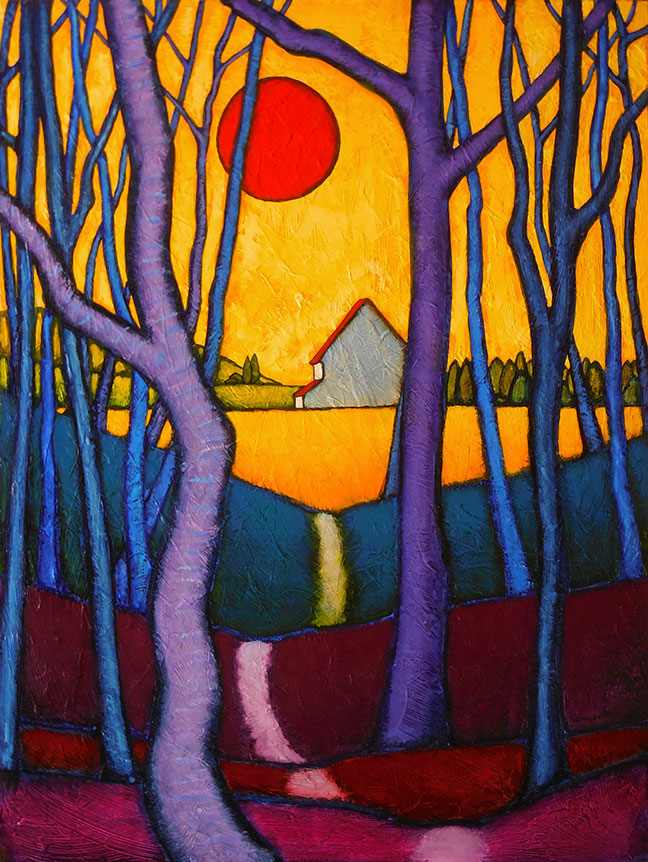 """MyersNewWorldPassage - 2021 GC Myers:<br>""""Through the Trees"""""""