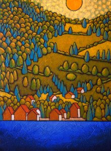"""GC Myers """"Peaceful Abode"""" 18x24 acrylic/canvas SOLD"""