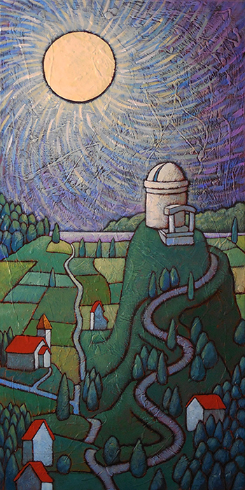 """GC Myers """"Reaching Out"""" 36x18 acrylic $ Inquire"""