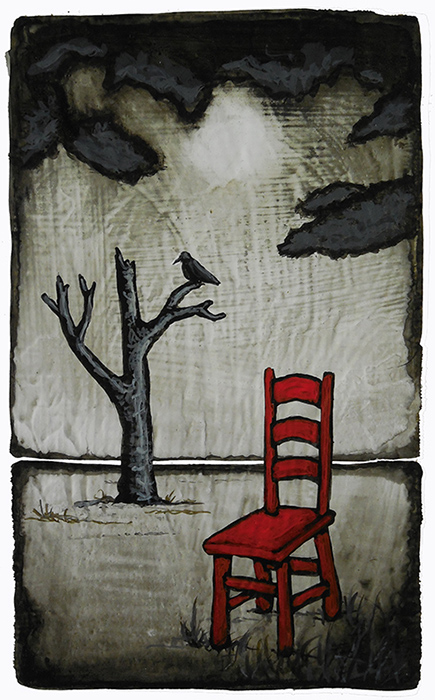 "GC Myers ""Sorrow's Companion"" 3x5 acrylic/paper SOLD"