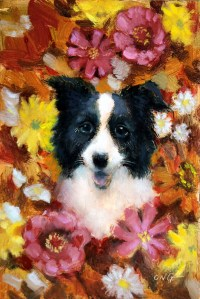 "Wilson Ong ""Collie Flower"" 6x4 oil/board $200."