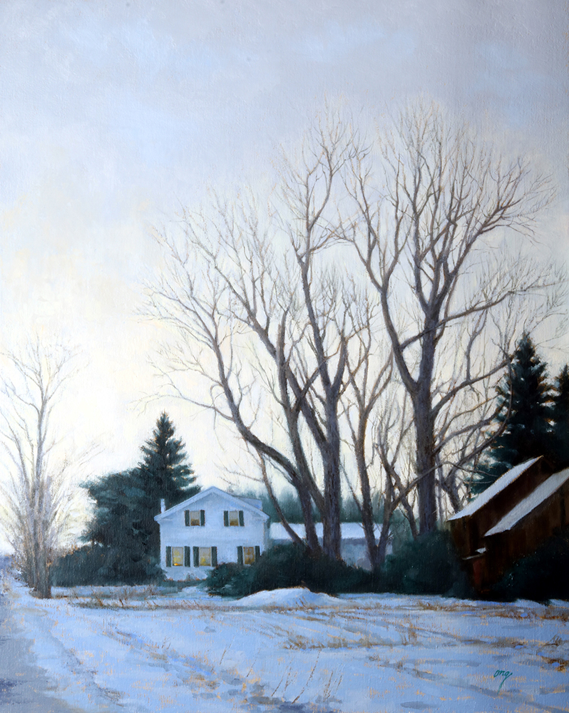 """Wilson Ong """"Winter Shelter"""" 30x24 oil $2,800. INQUIRE *"""