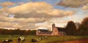 "Wilson Ong ""Pastoral Farm"" 12x24 oil/board $1,350."