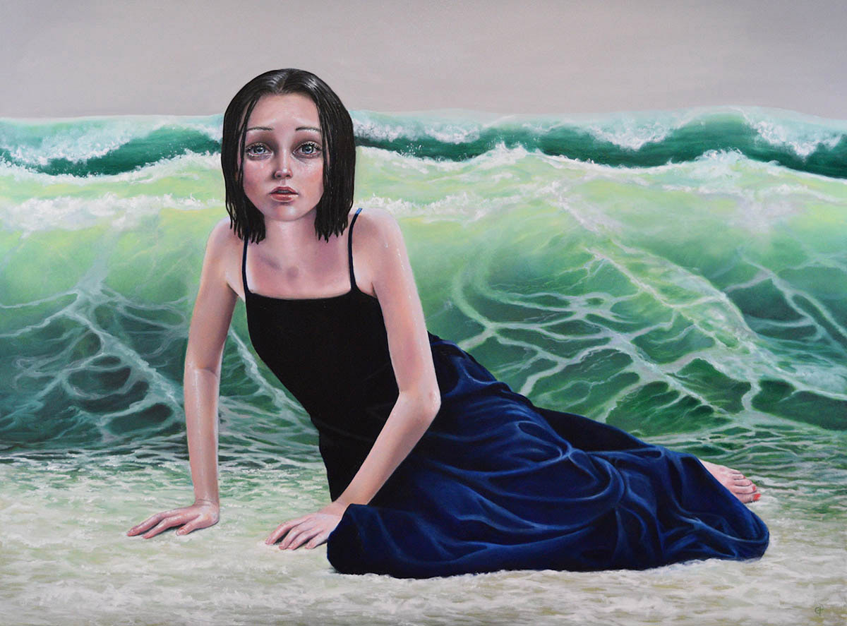 "Gina Pfleegor ""It Comes In Waves"" 30x40 oil on gallery wrapped canvas $3,800."