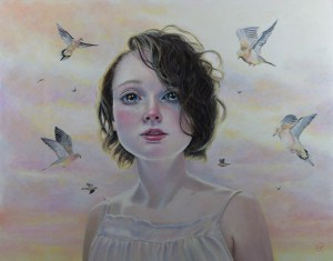 "Gina Pfleegor ""Of Love and Loss"" 11x14 oil $850."