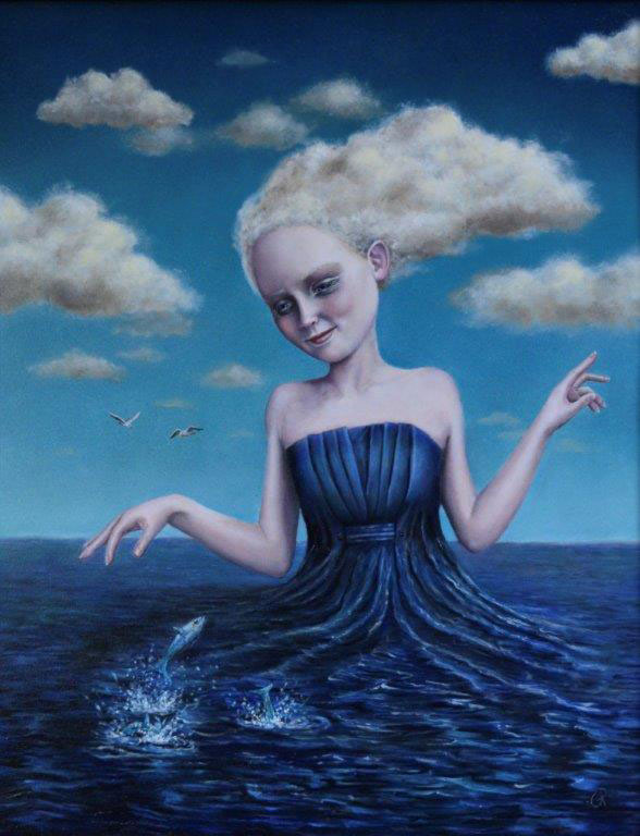 "Gina Pfleegor ""Swept Away"" 14x11 oil $800."