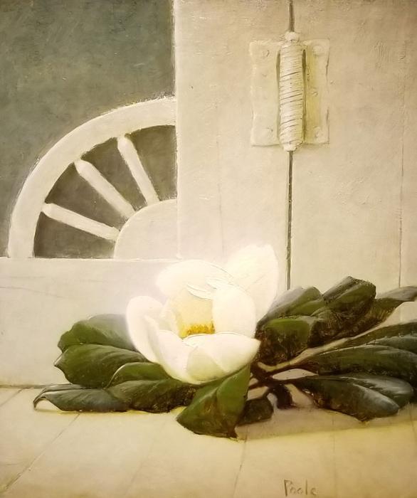 """Martin Poole """"Magnolia"""" 14x12 oil $1,600."""