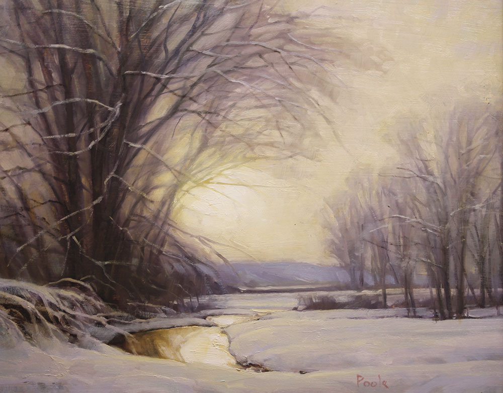"Martin A. Poole ""First Melt"" 14x17 oil $1,850."
