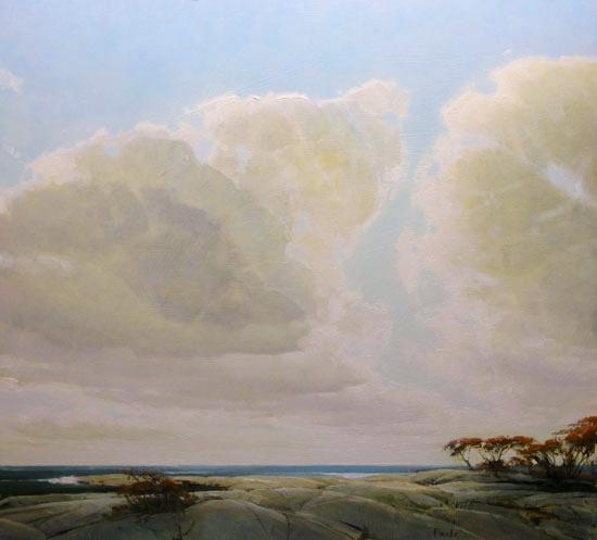 """Martin Poole """"Land's Edge"""" 24x26 oil $2,800."""