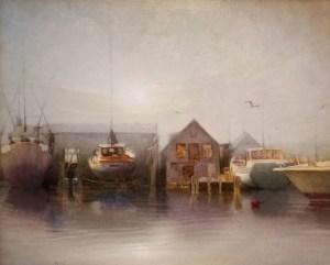 "Martin Poole ""Shipyard"" 24x30 oil $3,200."