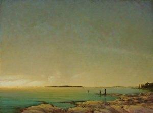 "Martin Poole ""Summer Dreams"" 36x48 oil $6,100."