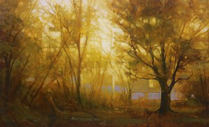 "Martin Poole ""Through Light"" 15x24 oil $2,530."