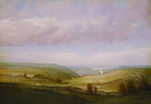"""Martin Poole """"Valley View - Chemung Valley"""" 14x18 $2,090."""