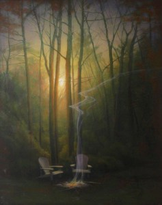 "Martin A. Poole ""Last Night"" 30x24 oil $3,200."