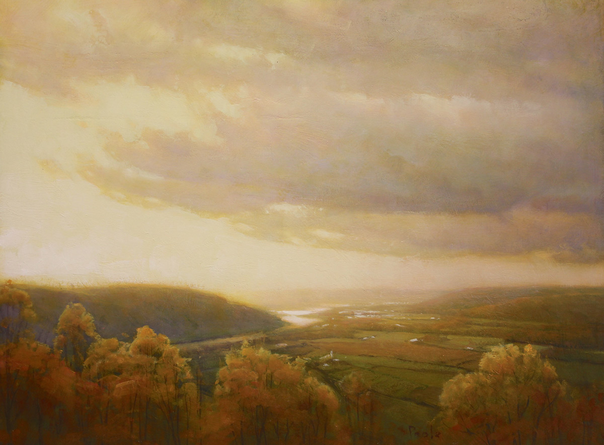 """Martin A. Poole """"Overlook"""" 18x24 oil $2,350. Unframed (Inquire)"""