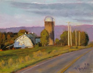 "James Ramsdell ""Late Day Shadows"" 9x12 oil $700."