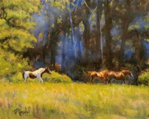 "James Ramsdell ""Left Behind"" 16x20 oil $1,100."
