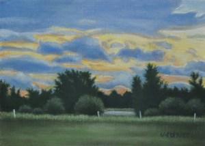 "Valorie Rohver ""Evening Storm"" 5x7 oil $275."