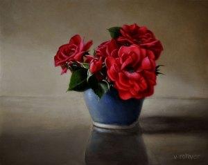 """Valorie Rohver """"Little Don Juan Bouquet"""" 8x10 oil $495."""