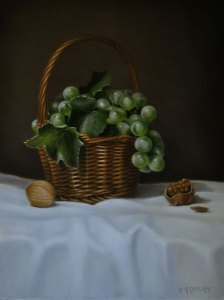 """Valorie Rohver """"The Small Harvest"""" 12x9 oil $525."""