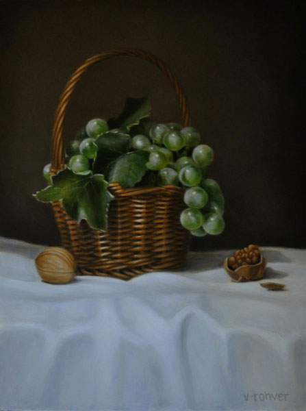 "Valorie Rohver ""The Small Harvest"" 12x9 oil $525."