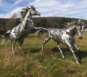 "Jay Seaman ""Horses"" mixed media sculpture $ Inquire"