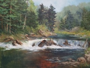"Judy Soprano ""On the Way to Genesee River"" 24x30 oil $1,400. SOLD"