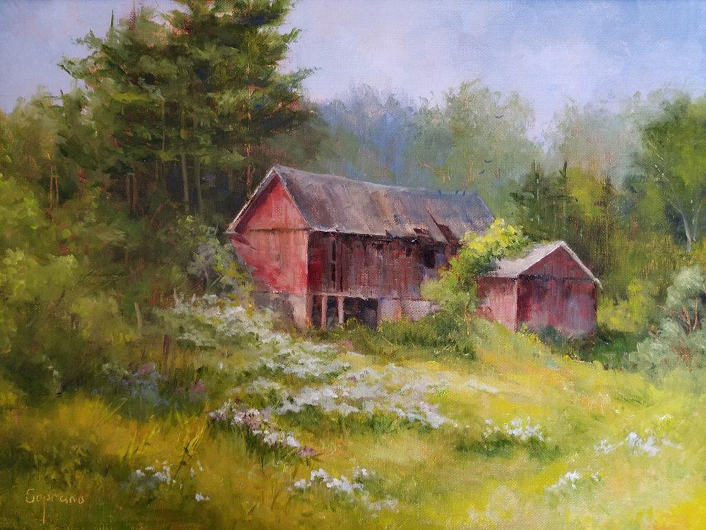 "Judy Soprano ""The Bemish Barn"" 12x16 oil $475. SOLD"