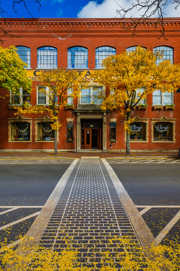 "Chris Walters ""Fall Foliage in Corning's Gaffer District"" inquire for available ordering options"