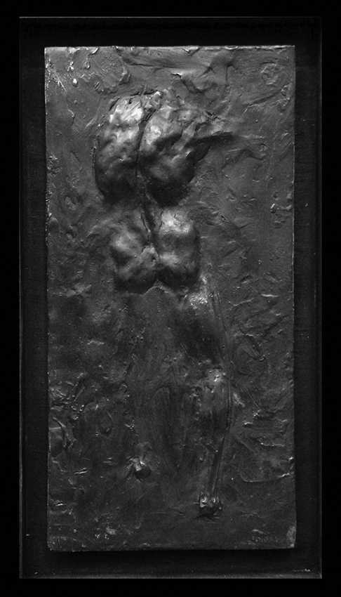 """Gary Weisman """"Relief - Male Back 1/25"""" bronze 12"""" x 6"""" x 1"""" depth $550. Inquire on availability"""