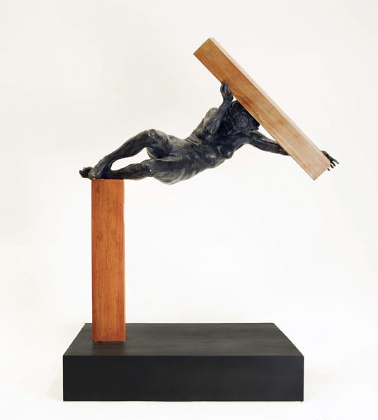 """Gary Weisman """"Unoffering"""" bronze $6,000."""