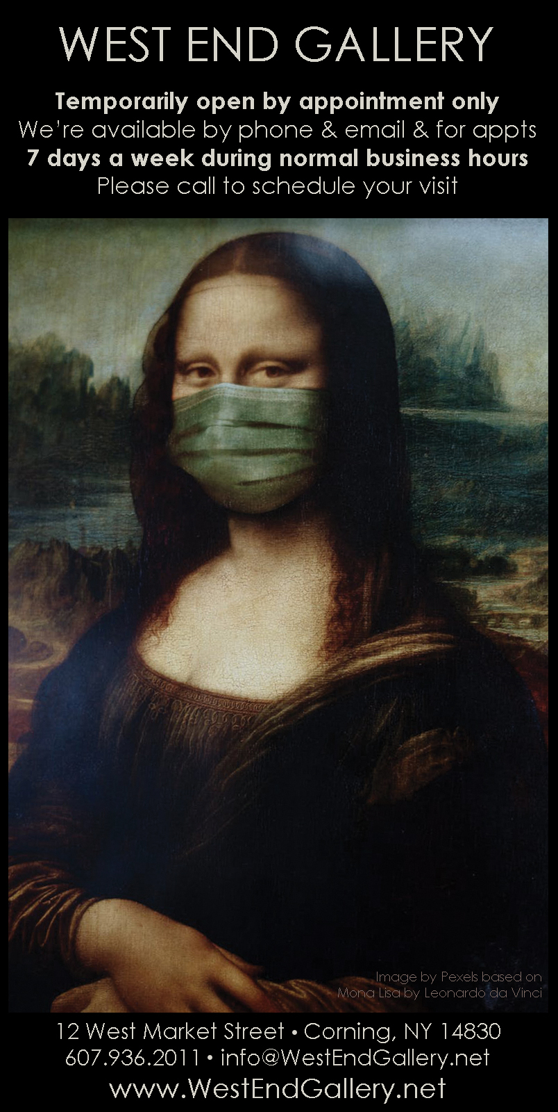 Mona Lisa by Pexels - West End Gallery - Appointments