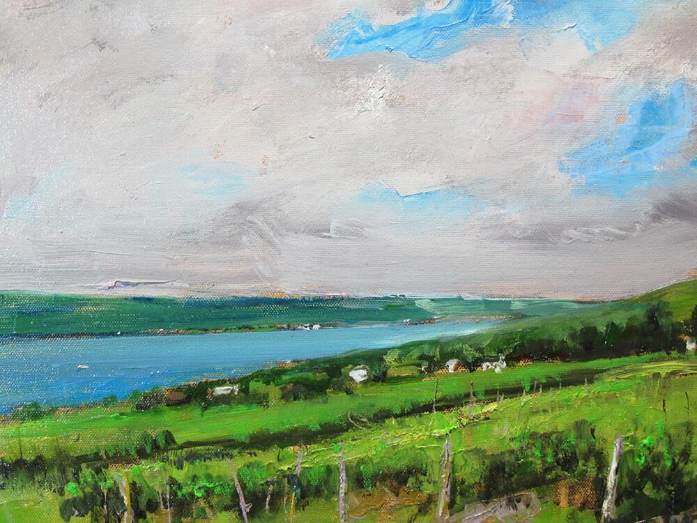 "Bruce Baxter ""Seneca Vineyards Overlook Study"" 11x14 oil $800"