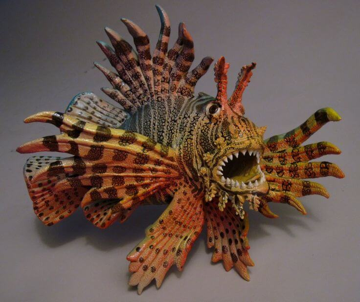 "Alan and Rosemary Bennett ""Lionfish"" fish glaze"