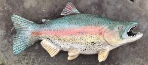 "Alan and Rosemary Bennett ""Salmon"" raku fired"