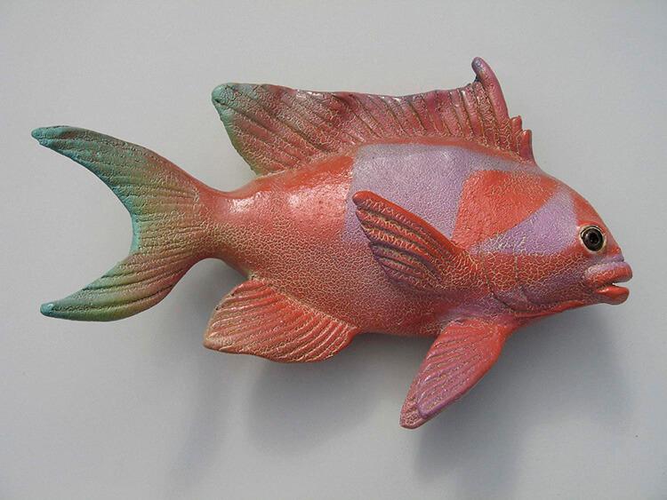 "Alan and Rosemary Bennett ""Square Spot Anthias"" fish glaze"