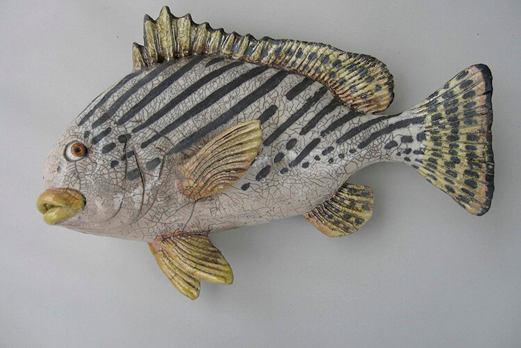 "Alan and Rosemary Bennett ""Sweetlips"" raku fired"