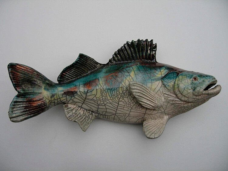 "Alan and Rosemary Bennett ""Walleye"" raku fired"