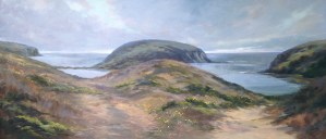 "Anne Bialke ""Paths to the Sea"" 18x36 oil $925."