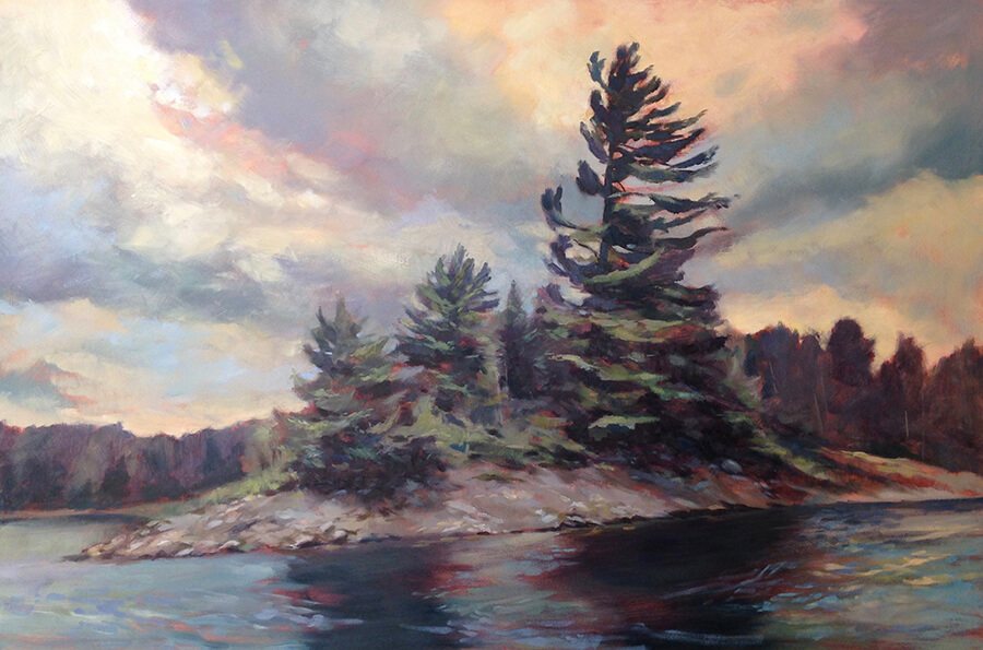 "Anne Bialke ""Prevailing Winds"" 24x36 oil $1,450."