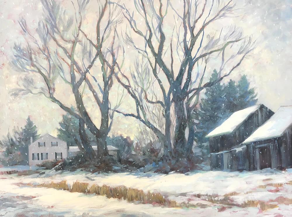 """Anne Bialke """"Snow Quiet"""" 18x24 oil $1,100. INQUIRE *"""