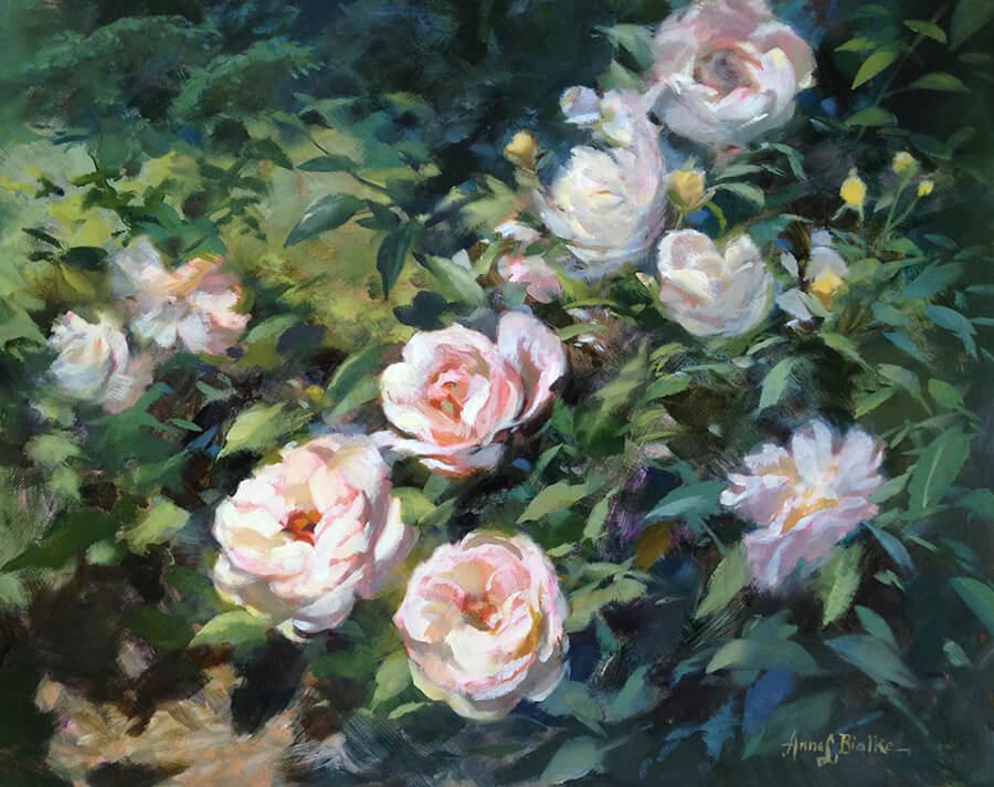 """Anne Bialke """"Summer Fragrance"""" 16x20 oil $985."""