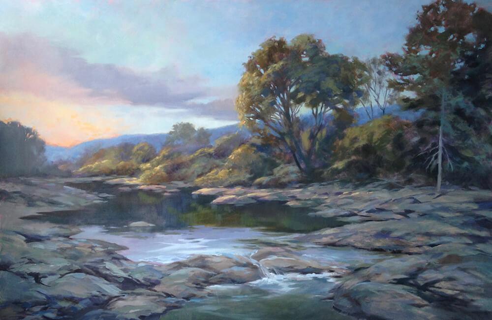 "Anne Bialke ""Water Over Stone"" 24x36 $1,750."