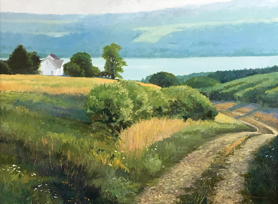 "Tom Gardner ""Vineyard Road"" 36x48 oil $4,400"