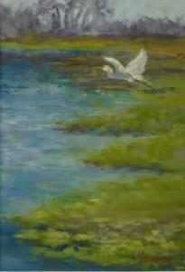 """Linda Hansee """"Taking Flight"""" 7x5 pastel $250"""