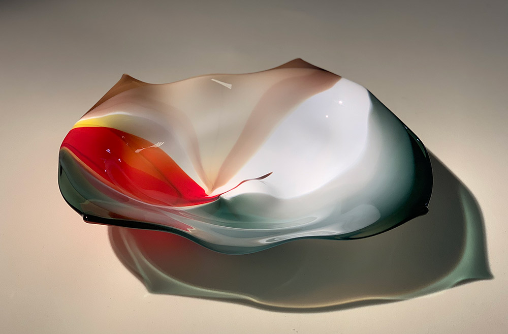 "Willsea-O'Brien ""Low Desert Tabletop"" blown glass sculpture $700. Inquire for availability"
