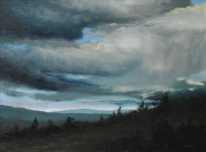 "Sean Witucki ""Rain's Edge"" 9x12 oil $850."