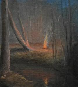 "Sean Witucki ""Study #2 - Lost in the Woods"" 5x4 oil/linen $400."