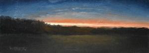 """Sean Witucki """"Sunset Beam"""" 2x5 oil/linen $200."""
